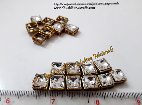 Kundan stones /Kundans - Square Shaped for Embroidery and Traditional Jewellery