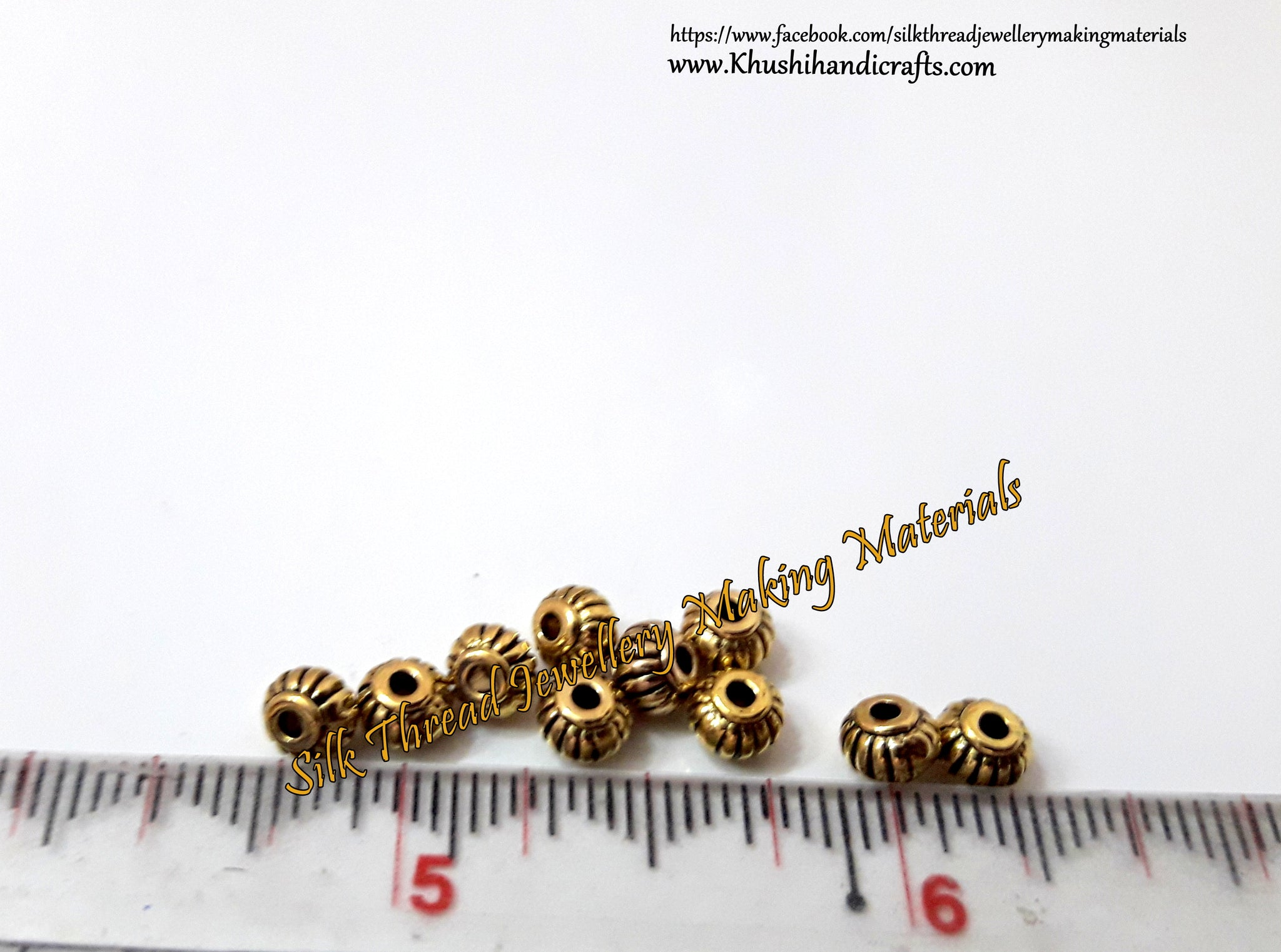 Round spacer beads