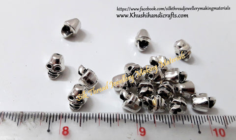 Skull spacer beads 12mm !!!! Detash Sale DS14