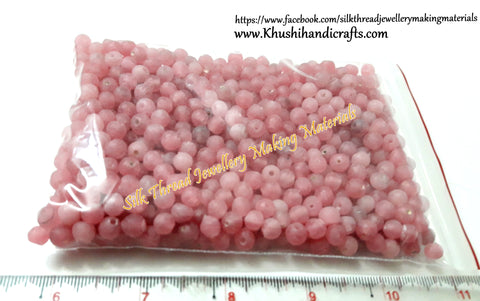 200 grams Pink Designer Beads for Jewellery making .Detash Sale DS24