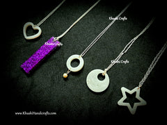 Simple Combo of 5 necklace's with resin pendants!