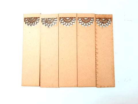 MDF Bookmark base 5 for Resin,Epoxy resin and Decoupage.Pack of 5 pieces!