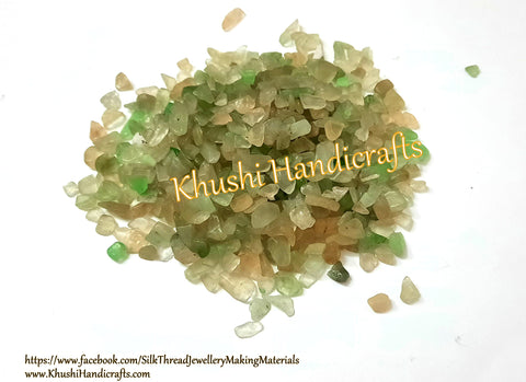 Natural Green Aventurine Geode Gemstone Quartz chips / Healing crystals for Resin crafts-200 grams