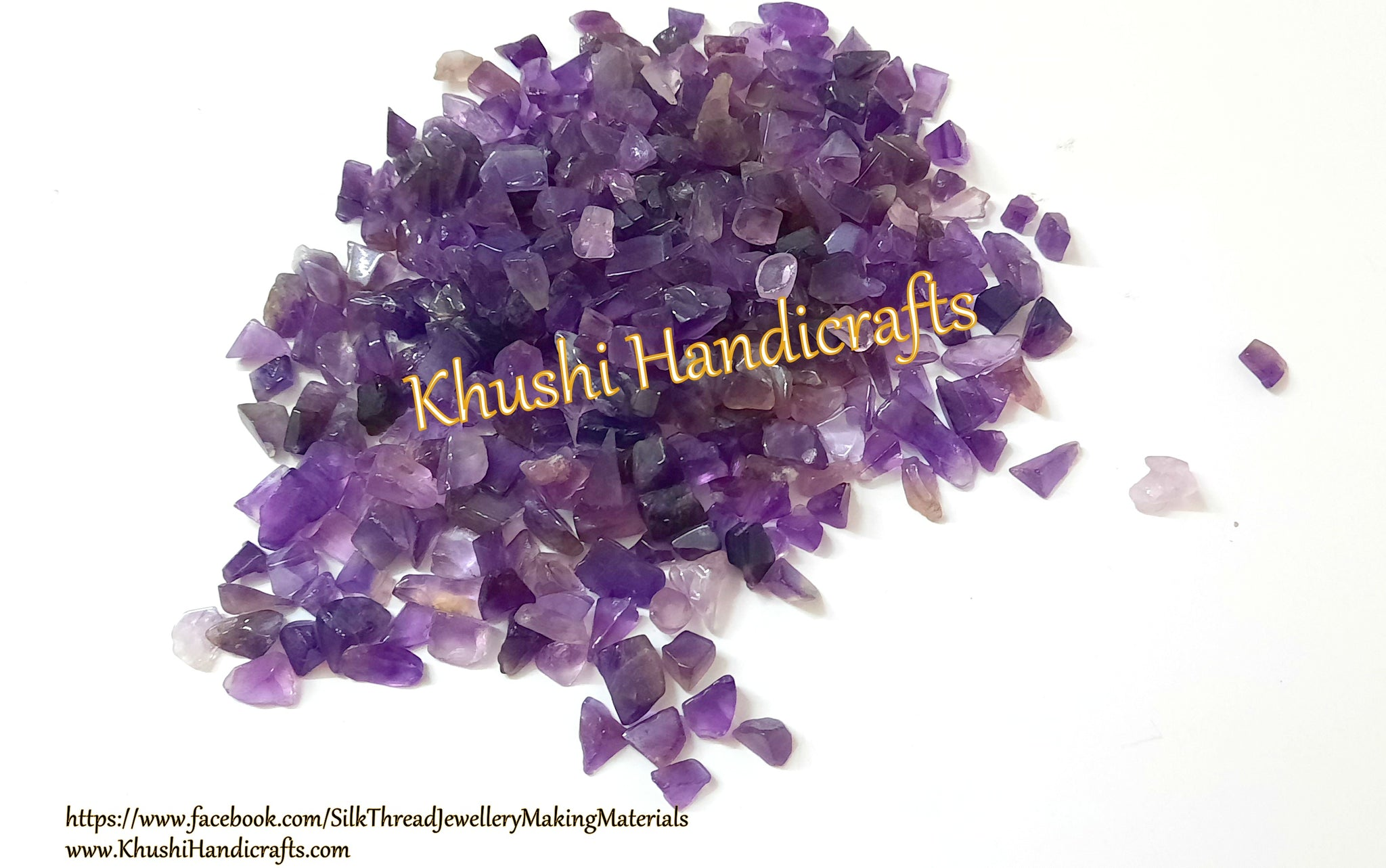 Amethyst quartz chips