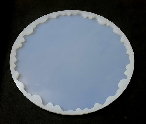 Irregular Tray Plate (8 inch ) Silicone Mold  For Resin crafts and Cement crafts