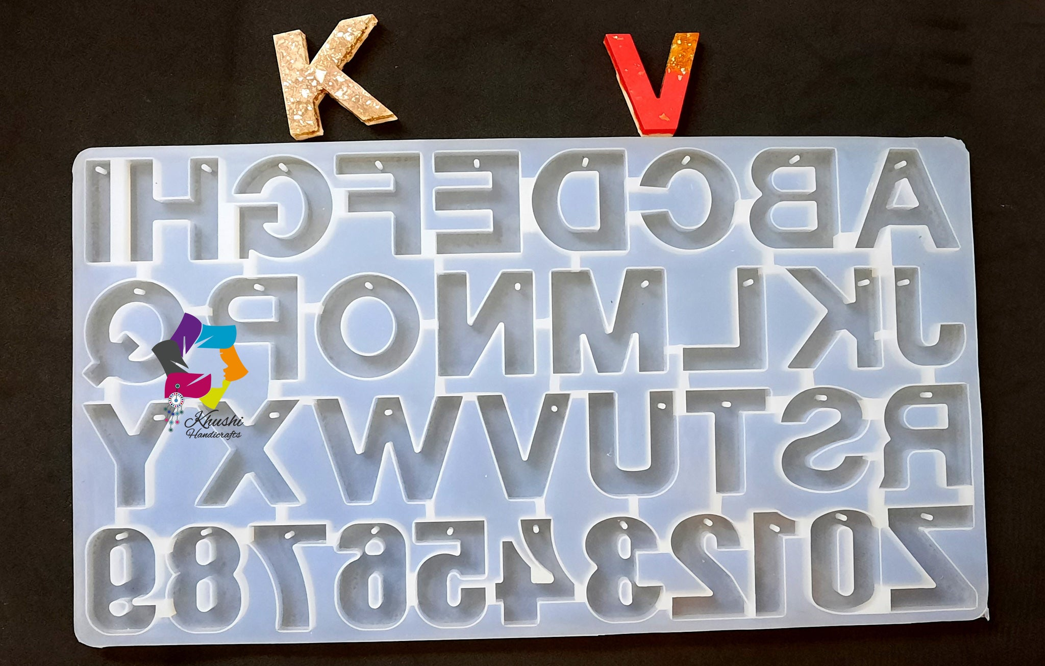 26 Big Alphabet Letters Silicone Mold  moulds For Resin Jewelry and key chain making