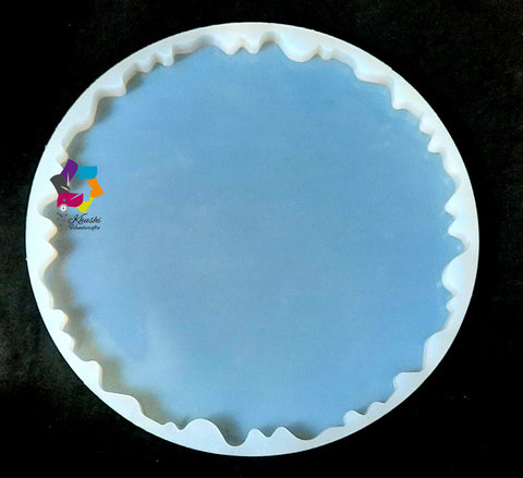 12 inch Irregular Tray Plate Silicone Mold  For Resin crafts and Cement crafts