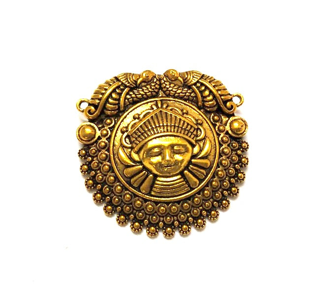 Antique Gold Durga Pendant .Sold per piece!
