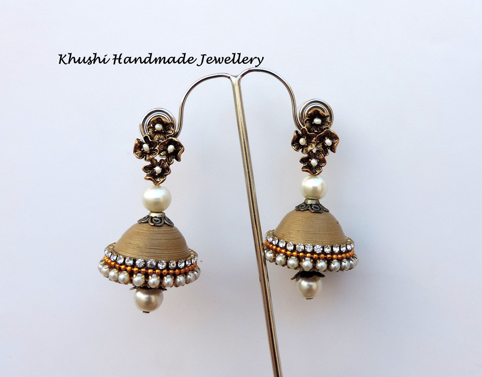 Jhumkas in gold - Khushi Handmade Jewellery