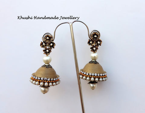 Jhumkas in gold