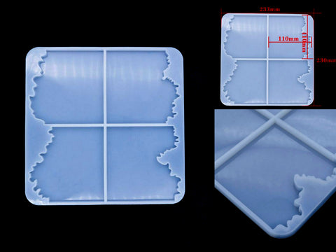 New Pattern Irregular Coaster Mould - Silicone Mold - Resin Mould
