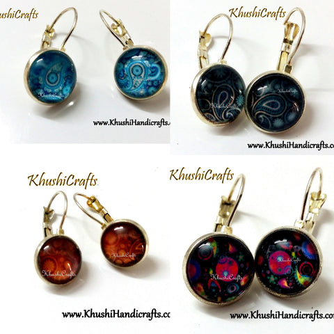 Simple Daily wear Cabochon earrings