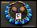 Blue Silk thread Jewellery