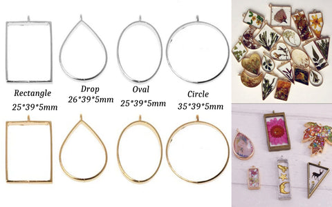 Hollow open bezel charm Frames for making resin Pendants and Earrings!