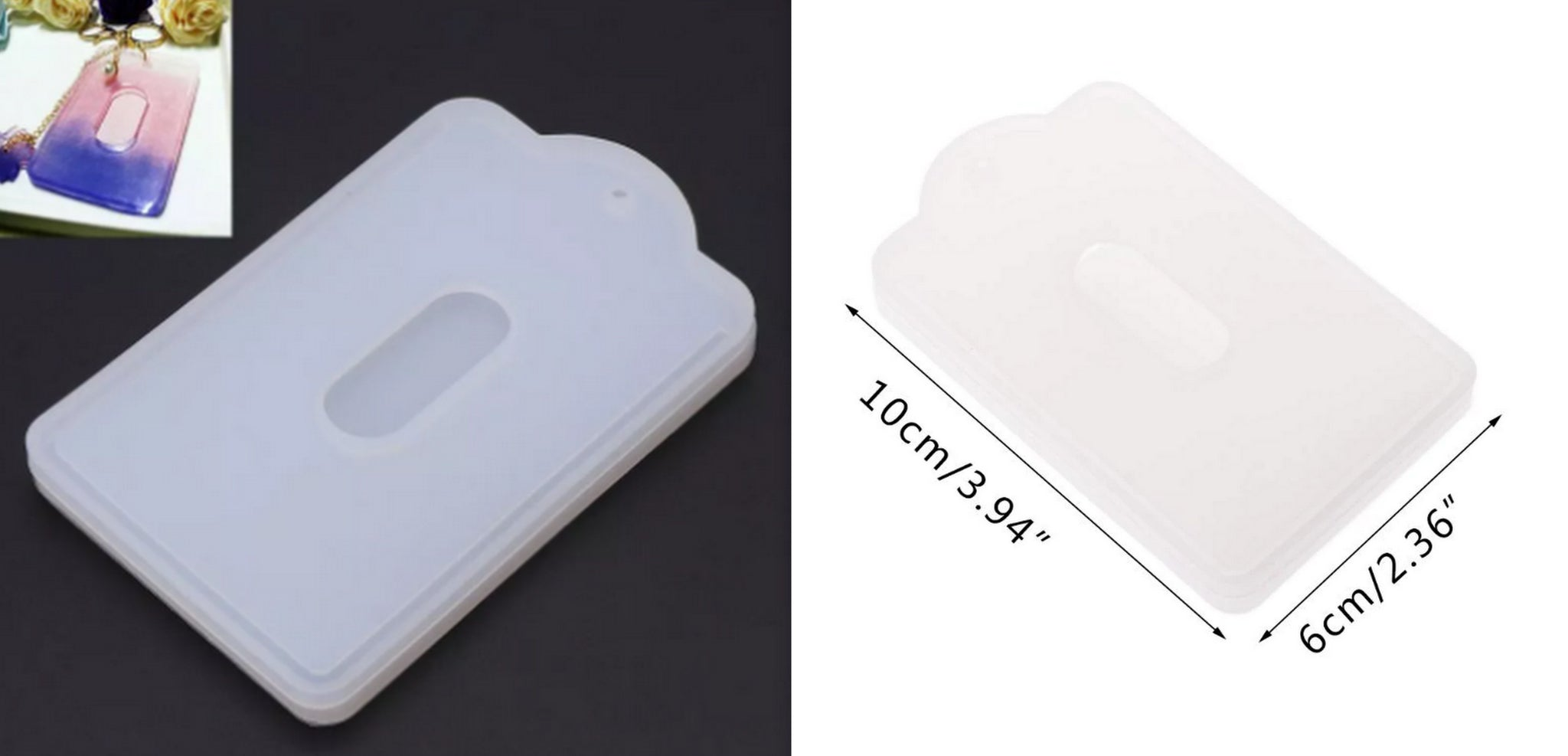 Card Pocket ID Holder Silicone Mold For Making Resin Jewellery