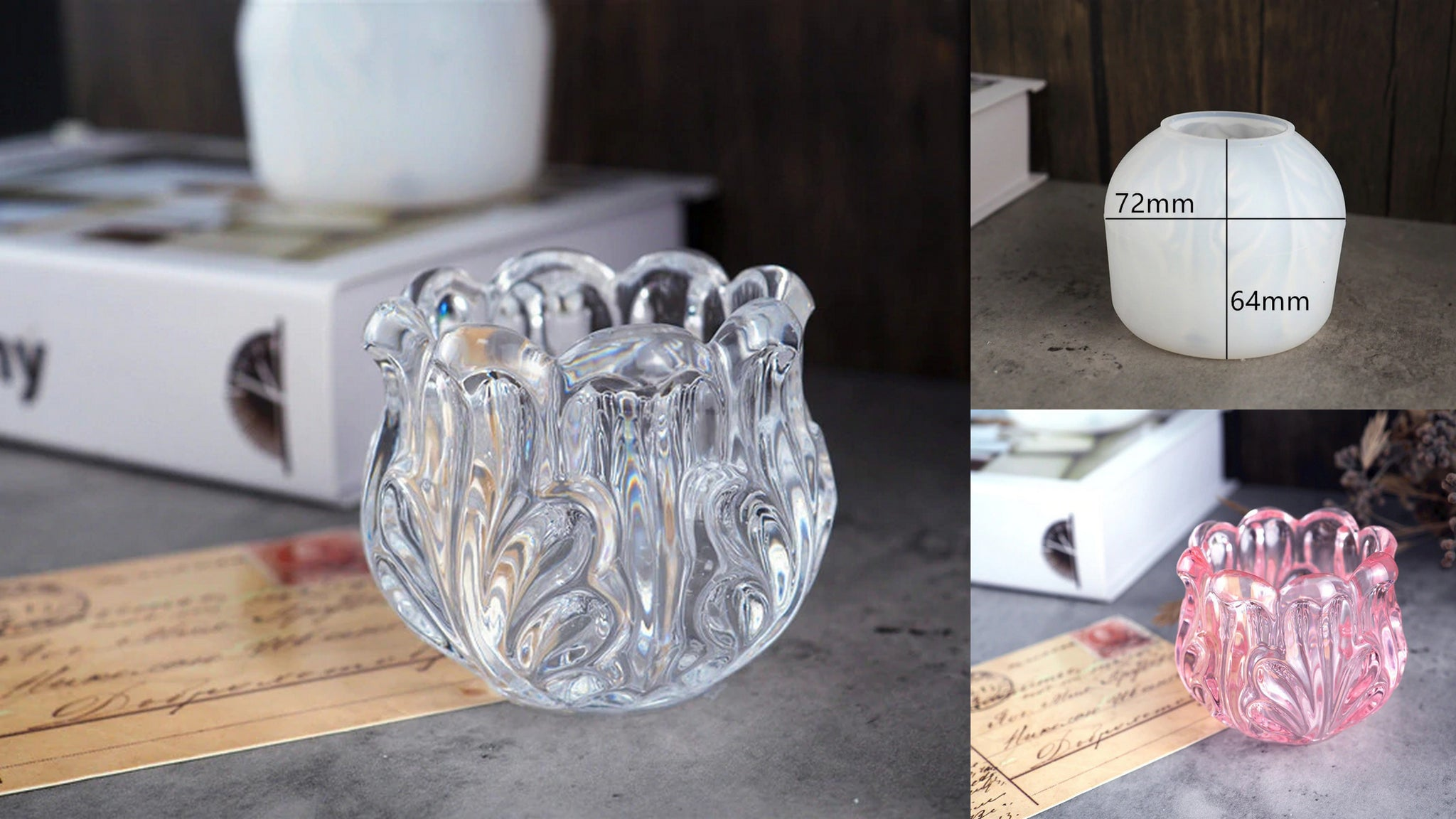 Candle Holder  Tealight holder Ash tray mold mould
