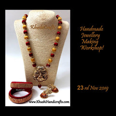 silk thread Jewellery making workshop