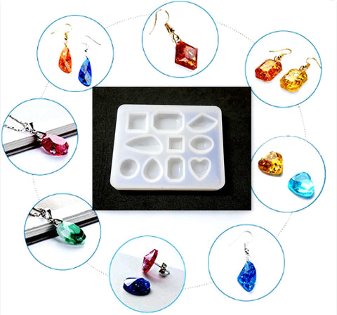 Earrings and Pendant Silicone Mold For Resin Crafts and Jewellery Making