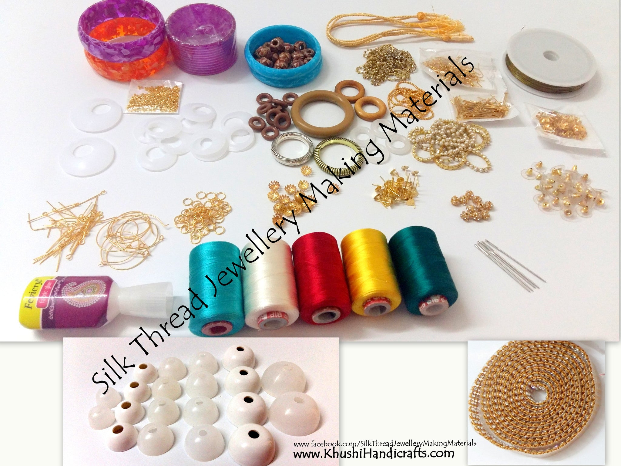 Buy Silk Thread Jewellery Making Kit with all moulds/thread spools ...