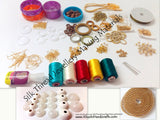 Silk Thread Jewellery Making Raw Materials