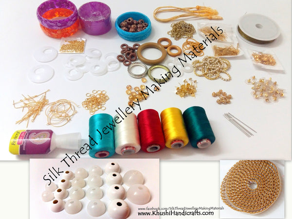 Buy Silk Thread Jewelry Making Kits Online In India