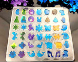 42 Patterns Earring stud and Pendant Silicone Mold For Resin Crafts and Jewellery Making