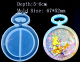 Bottle Shaker Key Chain Charms Silicone Mold 1- DIY Jewelry Craft Tool