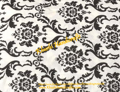 Decoupage Napkin-Black and white
