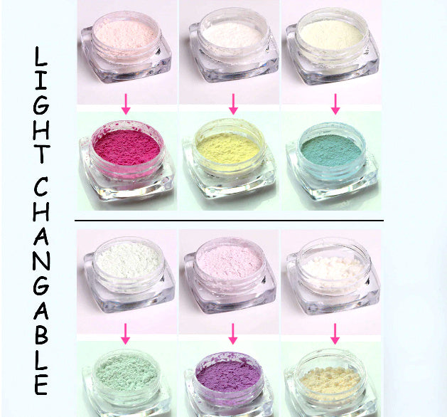 Photochromic Color Changing Pigment Color For Resin Crafts ,Jewelry Mold Filling and Nail art.