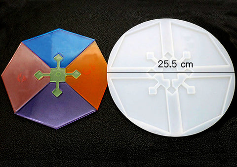 New design Agate Triangle Coaster Mould - Silicone Mold - Resin Mould