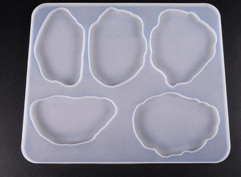 Irregular Coaster Mould - Silicone Mold - Resin Mould
