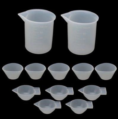 Silicone dispenser cups and beakers For Mixing and pouring Resin