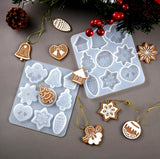 Christmas Tree snowflake Angel Silicone Resin Pendant Decoration Molds Moulds