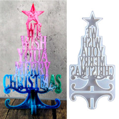 Christmas Tree message Silicone Resin Molds Moulds