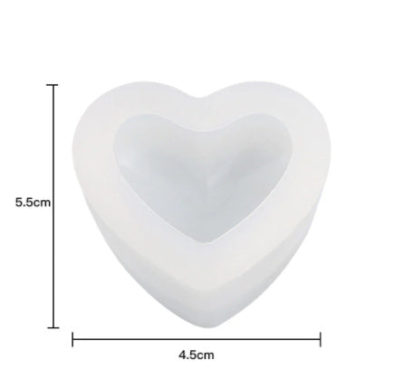 Heart Silicone Mold 2 For Resin Crafts