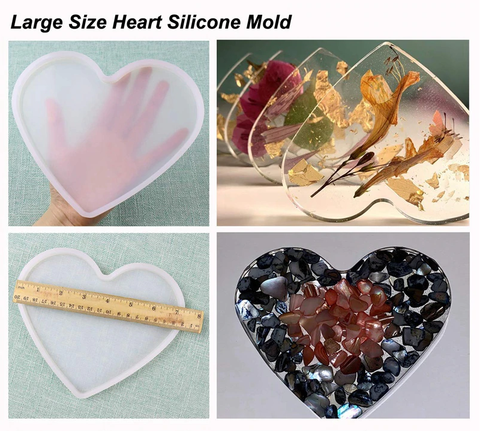 Large Heart Silicone Mold For Resin and Cement Crafts