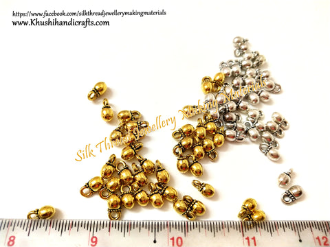 Gold / Silver Gungaroo |ghungroo Beads.Pack of 10 grams!