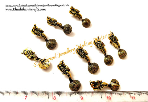 Kolhapuri Beads Antique Gold Peacock Pattern 24.Sold Per piece!
