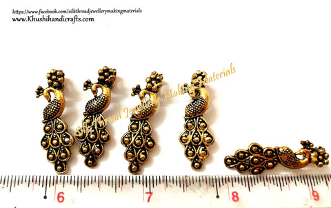 Kolhapuri Beads Antique Gold Peacock Pattern 25.Sold Per piece!