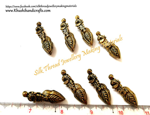 Kolhapuri Beads Antique Gold Peacock Pattern 26.Sold Per piece!
