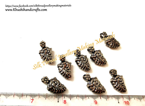 Kolhapuri Beads Antique Silver Peacock Pattern 29.Sold Per piece!
