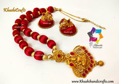 Silk thread Lakshmi Necklace