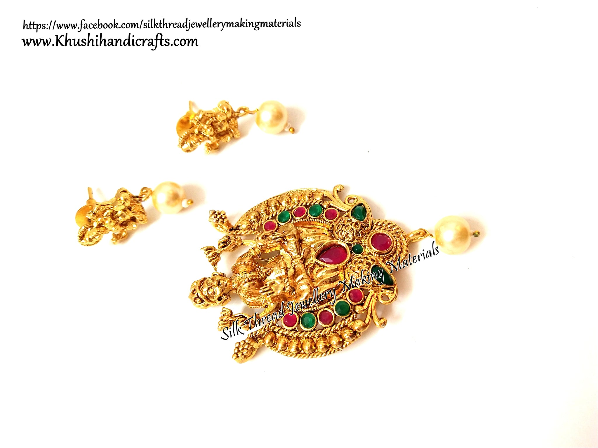 Antique Gold Lakshmi Temple Pendant