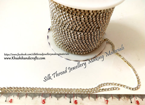 Silver Stone Chain without Gap!Sold as a pack of 5 meters!