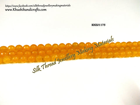 Natural Faceted Round Agates - 8mm - Gemstone Beads - KHZ01175