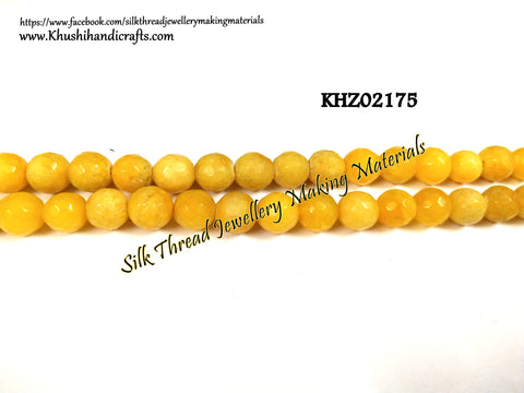 Natural Faceted Round Agates - 8mm - Gemstone Beads - KHZ02175