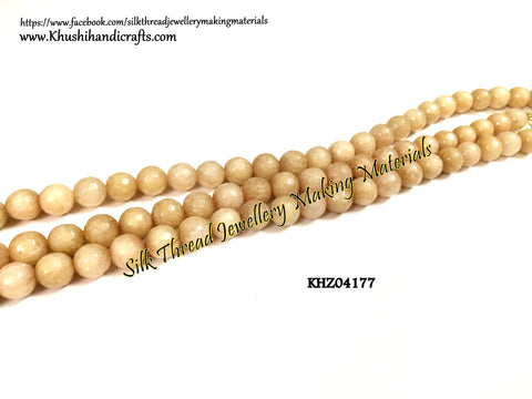 Natural Faceted Round Agates - 8mm - Gemstone Beads - KHZ04177
