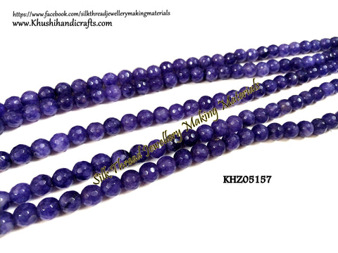 Natural Faceted Round Agates - 8mm - Gemstone Beads - KHZ05157