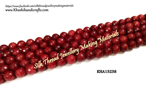 Natural Faceted Round Agates - 10mm - Gemstone Beads - KHA13238