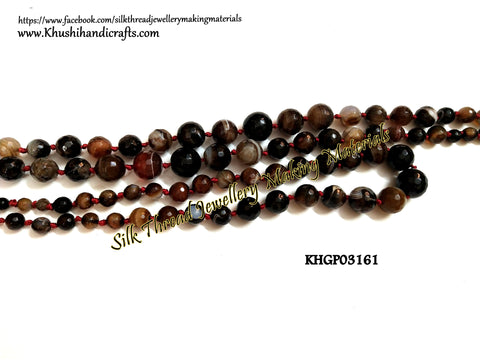 Natural Faceted Graduation Round Agates -Gemstone Beads - KHGP03161